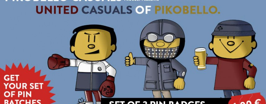 United Casuals of PIKOBELLO Pin Badge Set